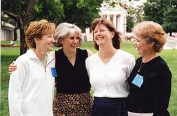 Reunited women